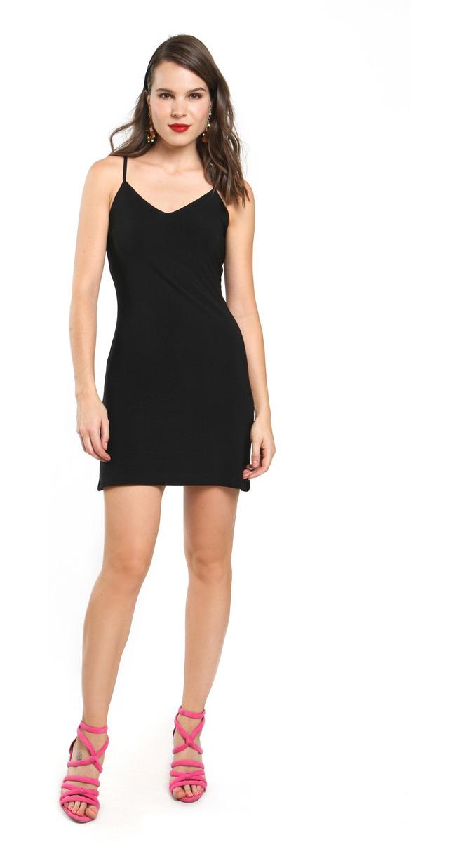 Vestido Corto Mujer Ajustado Escote Corazón Color Negro Lob