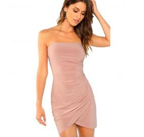 a9c9d27723ae Vestido Corto Mujer Beige Elegante Fiesta Moda