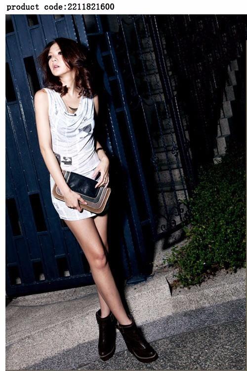 Vestido Corto Mujer Casual Juvenil Sexy Moda Escote Lindo - U S ... 329daff2dac4