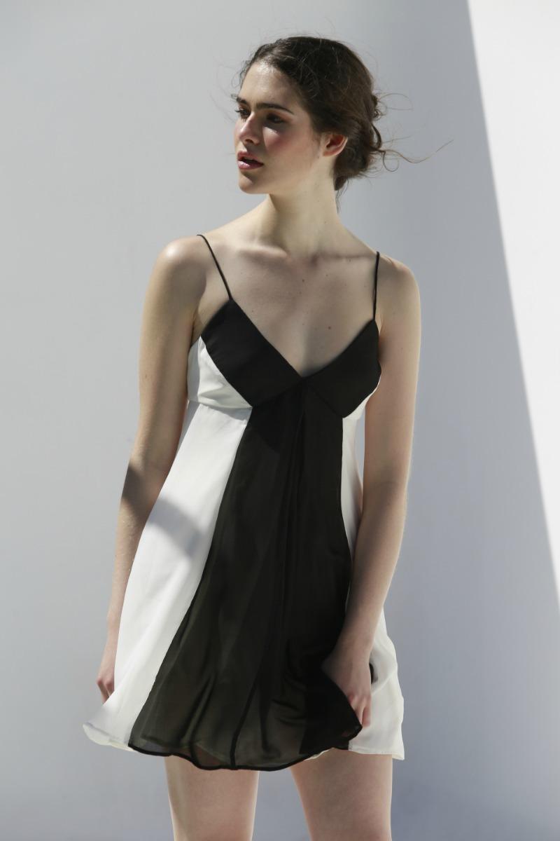 473f10b466d1c Vestido corto mujer fiesta bicolor blanco negro gasa jpg 800x1200 Mercado  libre vestidos cortos de mujer