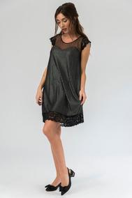 a22f5cb9c Vestidos Cortos Sueltos Seda Negros - Vestidos en Mercado Libre Argentina