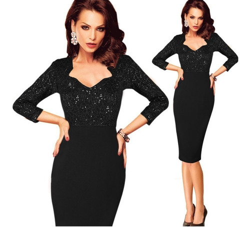 vestido corto oficina fiesta noche elbauldecorina 0101124