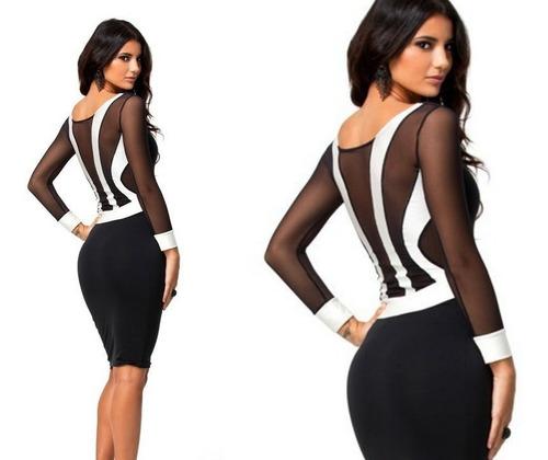 vestido corto oficina noche fiesta elbauldecorina 010188