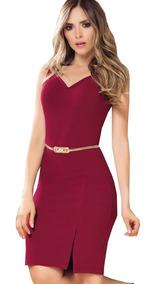 Vestido Corto Para Dama Elegante Con Abertura Bc