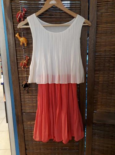 vestido corto plisado para todos los talles