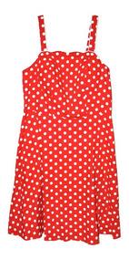 Tener cuidado de zapatos deportivos mejor lugar para Vestido Corto Rojo Con Puntos Blancos Talla 16w Nuevo