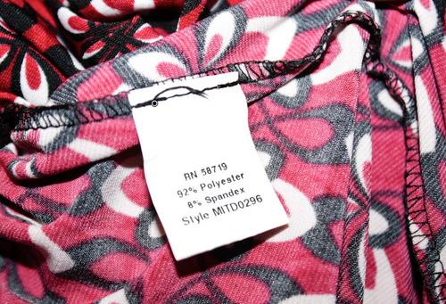 vestido corto rosa americano talla xl extra grande