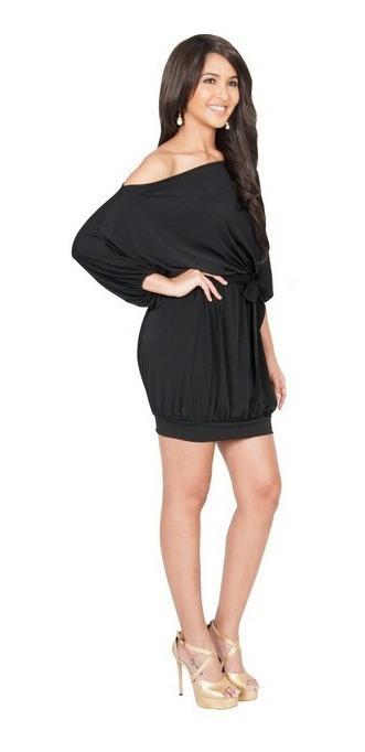 precio oficial Página web oficial la mejor calidad para Vestido Corto Sin Hombro Cintura Elastica Con Moño Holgado