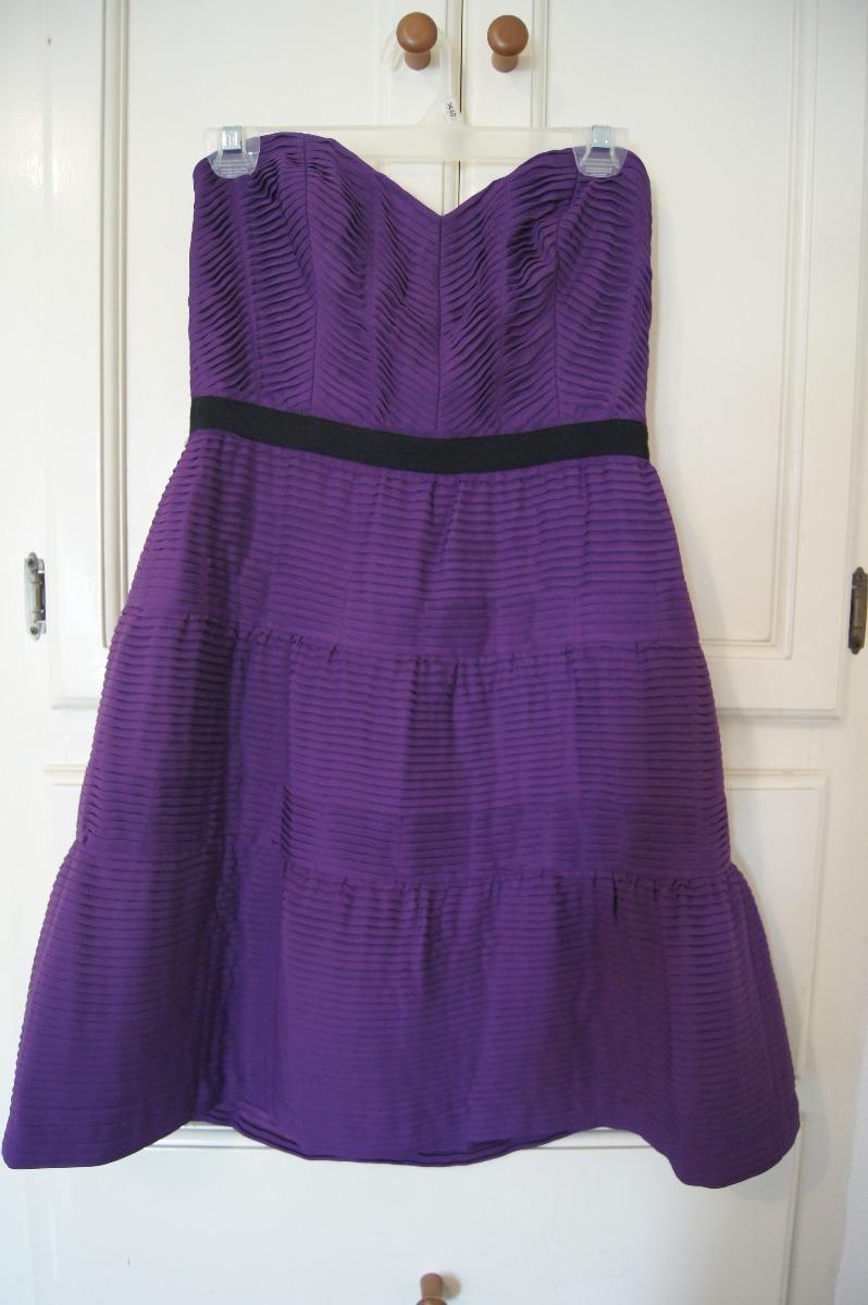 Vestido Corto Straples Bcbg Maxazria, Color Morado, Medida 8 ...