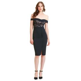 3aa0969798 Vestido Con Cobertura En Pierna - Vestidos de Mujer Negro en Mercado ...