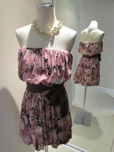 vestido corto strapless de fiesta salsipuedes !!! impecable