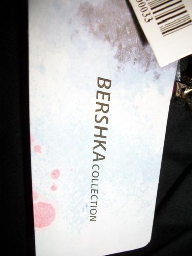 vestido corto strapless negro bershka etiquetado s-28