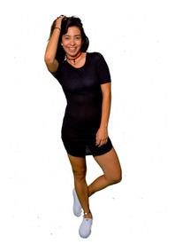 Vestido Corte U Negro Vestidos Casuales Mujer Quintana Roo