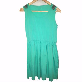 Vestido verde agua de noche