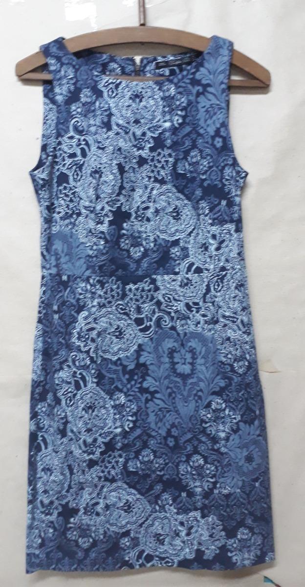 Zara mujer vestido azul