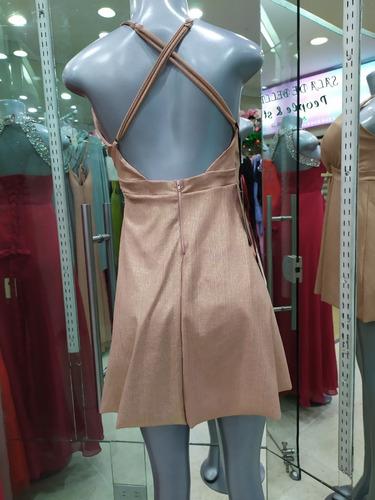 vestido corto,escote en v fiesta casual grados disponible