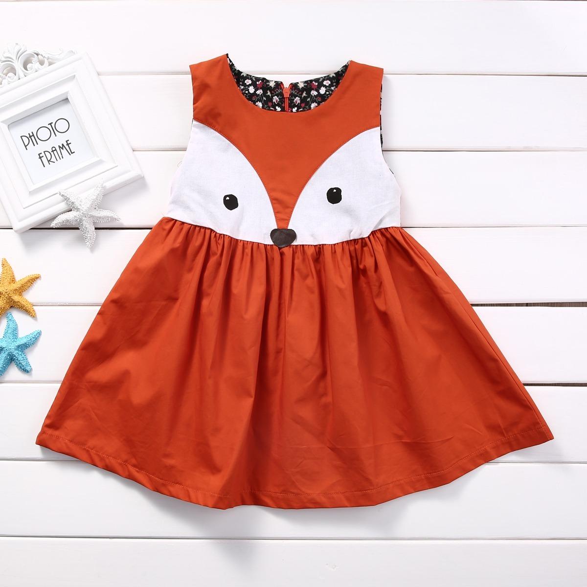 Vestido Coruja Menina Infantil Com Desenho De Bichinho Ofert R