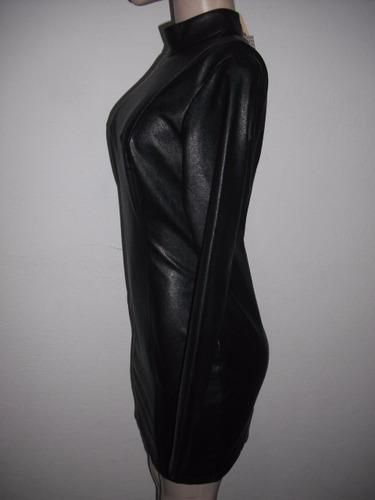 vestido couro sintético lovlity tam p sem uso cfe medidas