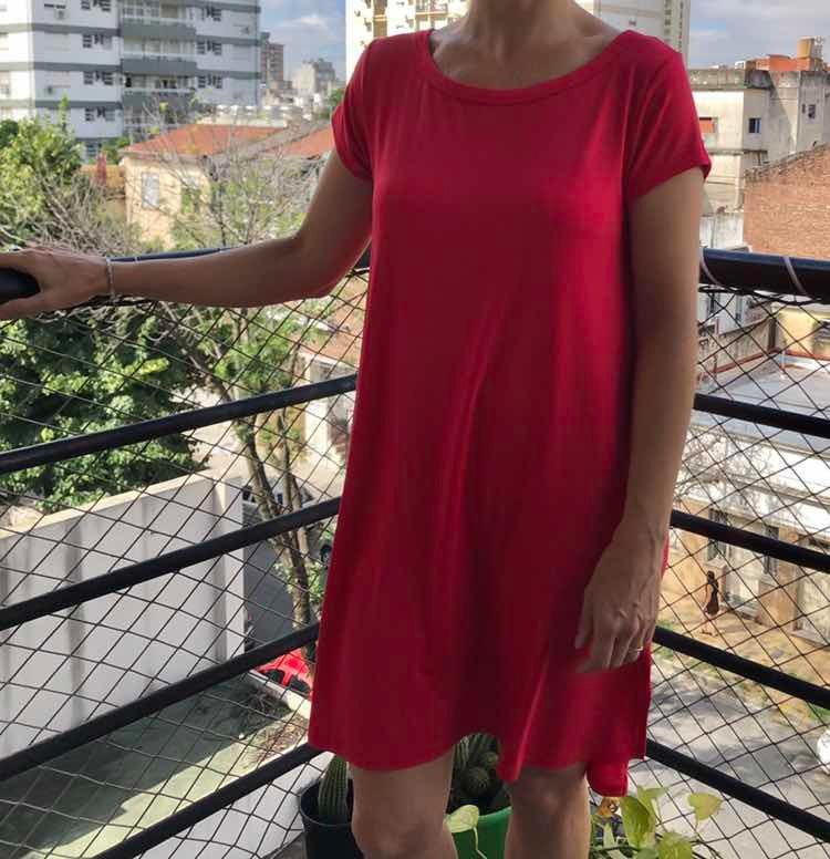 2544590f5671e Vestido Crepe Hasta La Rodilla Bien Suelto -   590