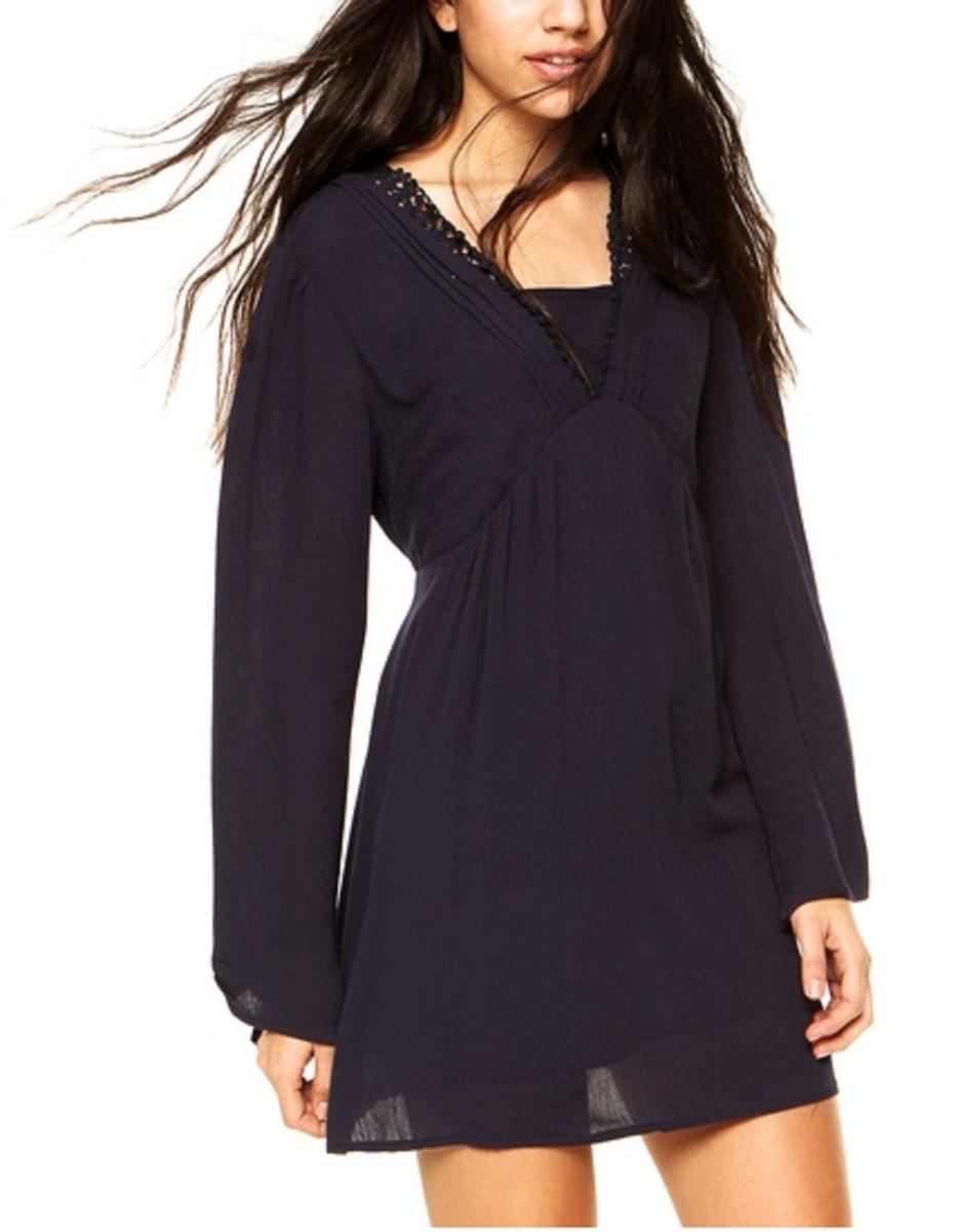560551621 vestido crepe marinho manga longa feminino. Carregando zoom.