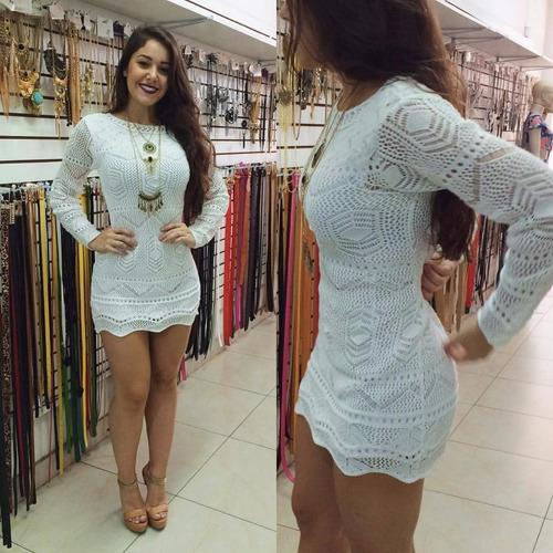 vestido crochê tricot renda blogueiras roupas femininas 2017