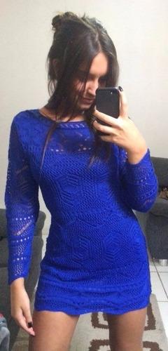 vestido crochê tricot renda blogueiras roupas femininas 2018
