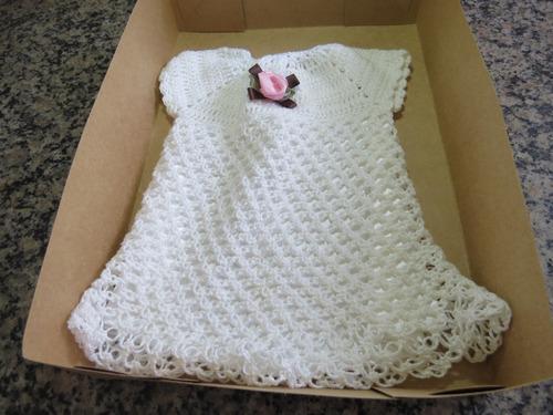 vestido crochet linha anne feito à mão bonecas reborn