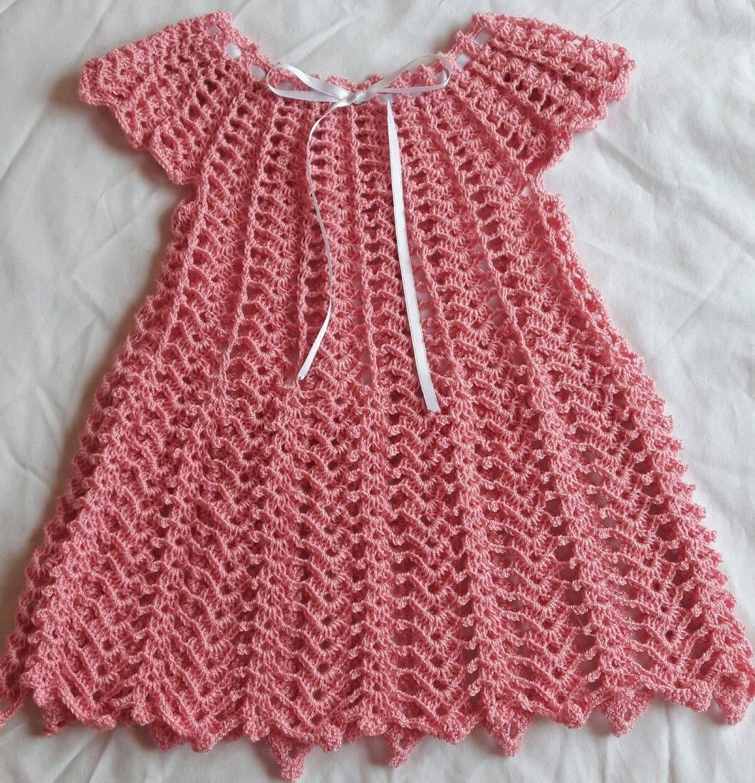 vestido crochet para ni a 6 12 meses en mercado libre. Black Bedroom Furniture Sets. Home Design Ideas