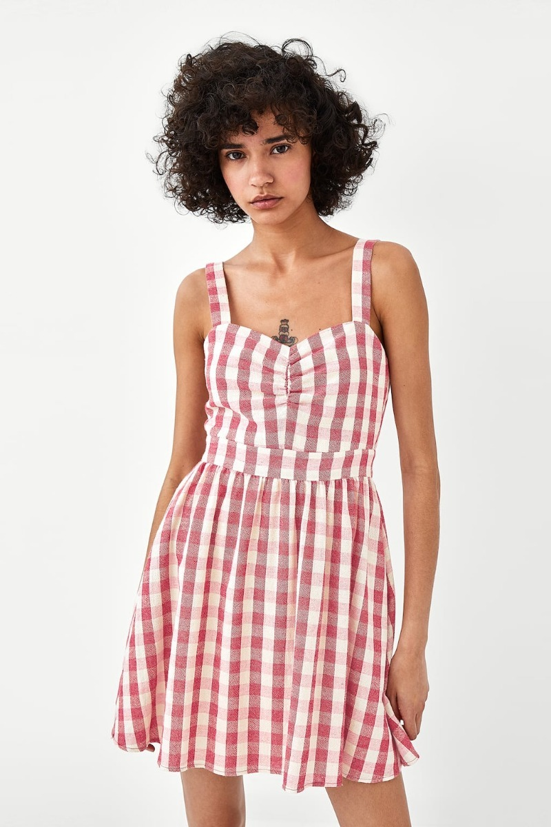 M Zara Talle Vestido Cargando Original Cuadros Corto Zoom qtIIERw b4a1a82542d