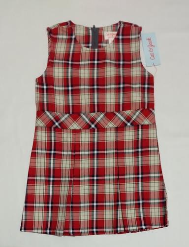 vestido cuadros uniforme niña talla 5 cat & jack