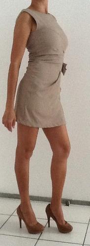 vestido curto beige made in italy/ único disponível!!:zayr