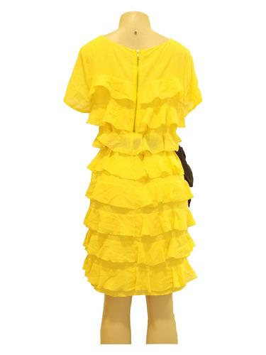 vestido curto c/ babado - h & m