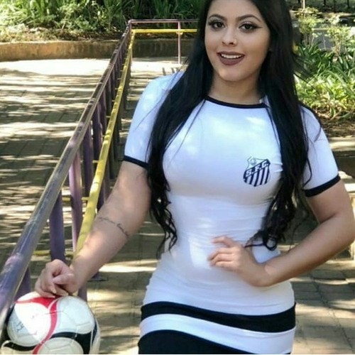 vestido curto casual torcedora times do futebol brasileiro
