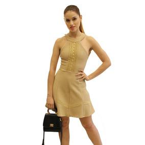 a2ccfc03d Vestido De Renda Preto E Dourado Gola Alta - Vestidos Femeninos ...