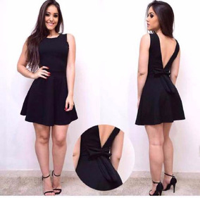 0ae0c3952d89 Lindo Vestido Colado Decotado - Vestidos Femeninos Curto com o Melhores  Preços no Mercado Livre Brasil