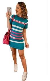335843105 Vestido Malha Para Usar Com Tenis - Vestidos Femeninos com o Melhores  Preços no Mercado Livre Brasil