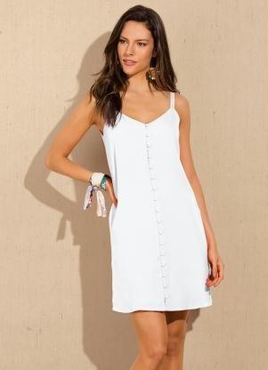 29bdb477f1d5 Vestido Curto Crepe Branco Doce Trama - R$ 199,00 em Mercado Livre