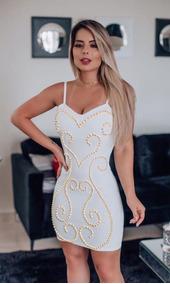 076cb9d15 Vestido Bojo Com Perolas - Calçados, Roupas e Bolsas com o Melhores Preços  no Mercado Livre Brasil