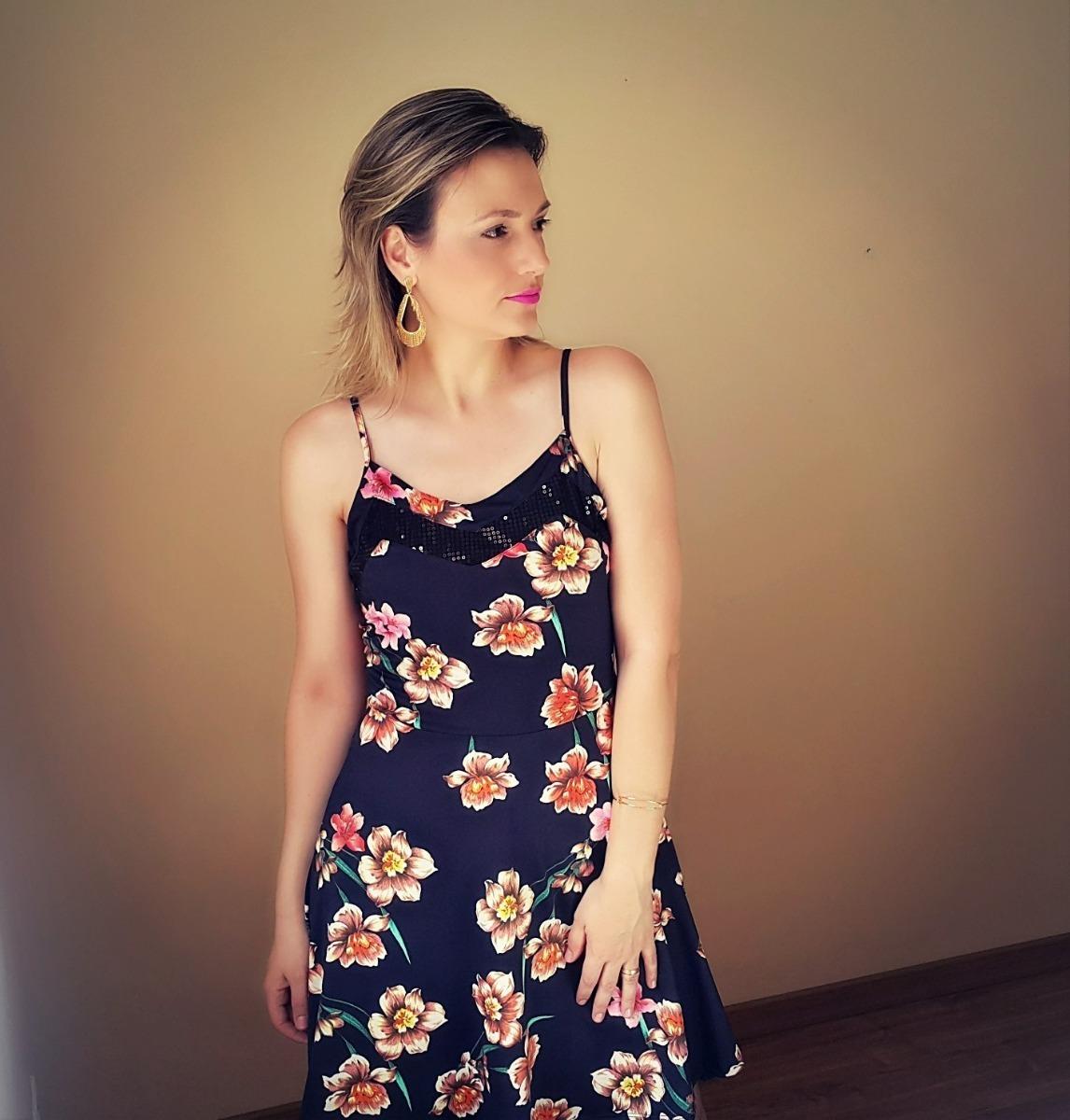 e13836002f vestido curto de alças com estampa floral  promoção!!! Carregando zoom.