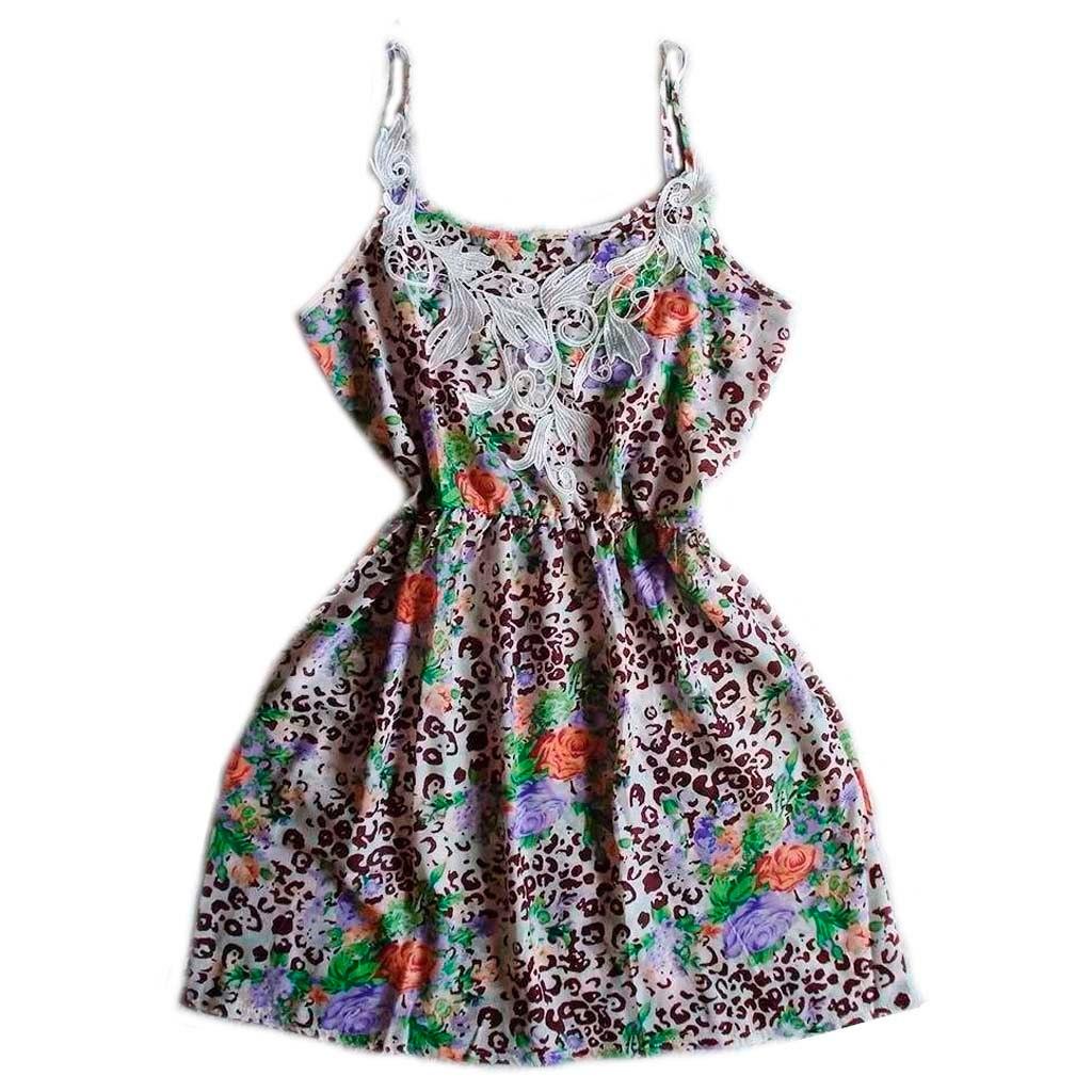 38d400830 vestido curto de alcinha evase estampado casual moda verão. Carregando zoom.