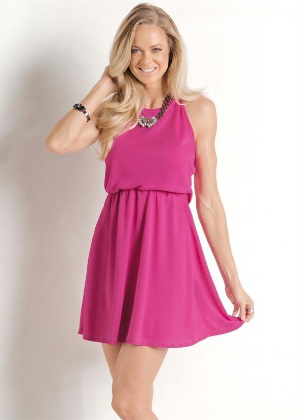 Vestido Curto De Festa Delicado Barato Rosa Pink Lindo Top