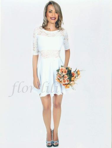 vestido curto de noiva,simples,cartório,civil,casamento