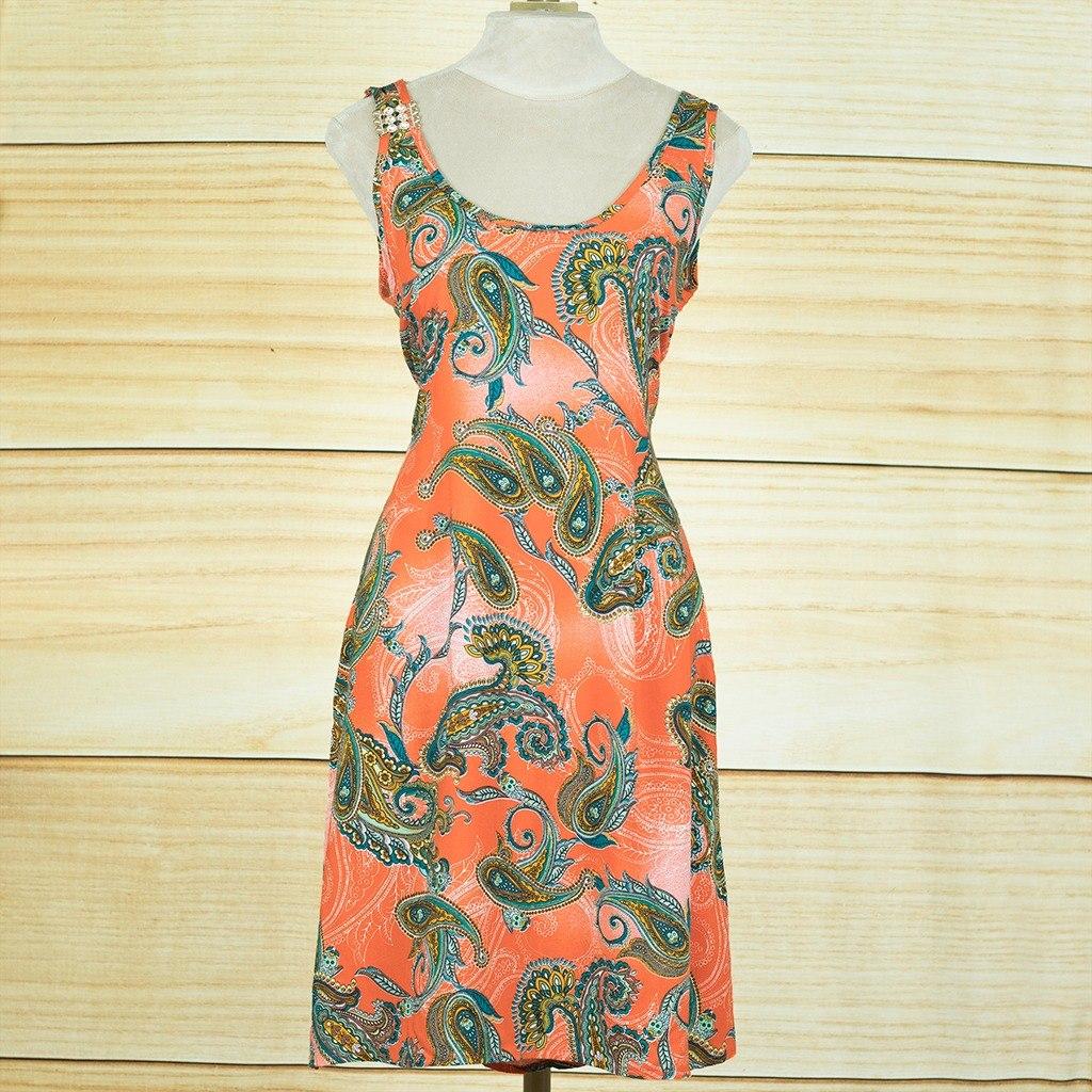 6f1210842 vestido curto de viscose estampado sem manga p - novo. Carregando zoom.
