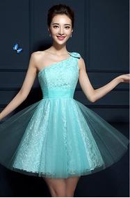3c08944aa4a7 Vestidos De 15 Anos Curto Verde Água - Vestidos com o Melhores Preços no  Mercado Livre Brasil