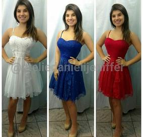 a4fe0a9dc Vestido De Debutante Vermelho Curto - Vestidos no Mercado Livre Brasil