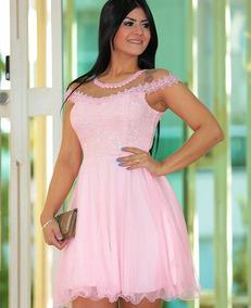 578871952 Vestido Festa Rosa Envelhecido - Vestidos De 15 anos Curtos Femininas no  Mercado Livre Brasil