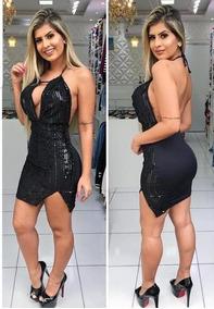 038fb6e85 Lindo Vestido Preto Curto Festa Brilho - Vestidos Curtos Femininas no  Mercado Livre Brasil