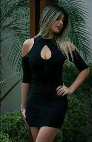 vestido curto decote gota ombro aberto de fora manga curta