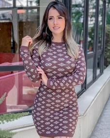 9766378aa Vestido Estampado Longo Festa Tecido - Calçados, Roupas e Bolsas no ...