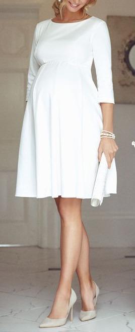Vestido Curto Evase Noiva Gestante Casamento Civil 404